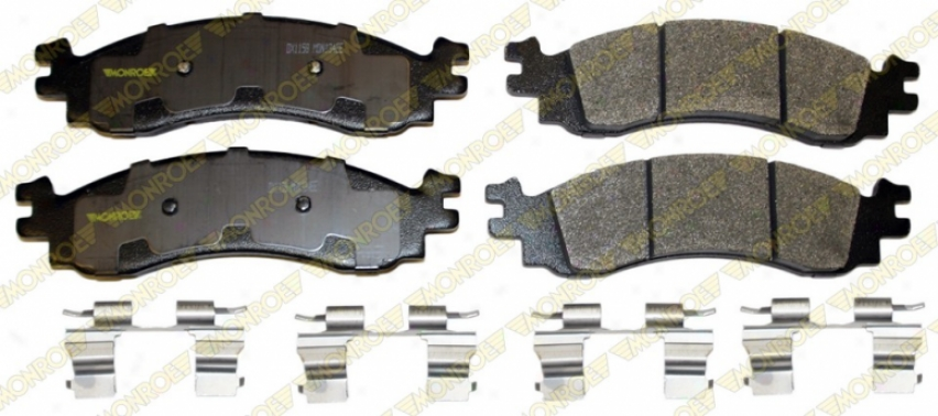 Monroe Premium Brake Pads Dx1158 Chevrolet Semi Metalic Brake Pads