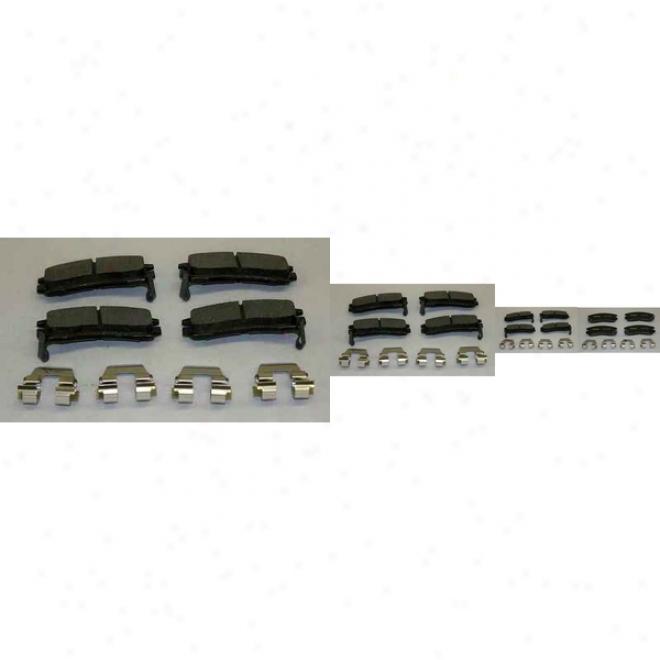 Monroe Premium Brake Pzds Dx508a Nissan/dats8n Semi Metalic Brake Pads