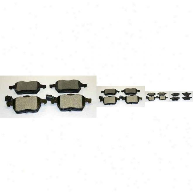 Monroe Premium Brake Pads Dx687a Jaguar Semi Metalic Brake Pads
