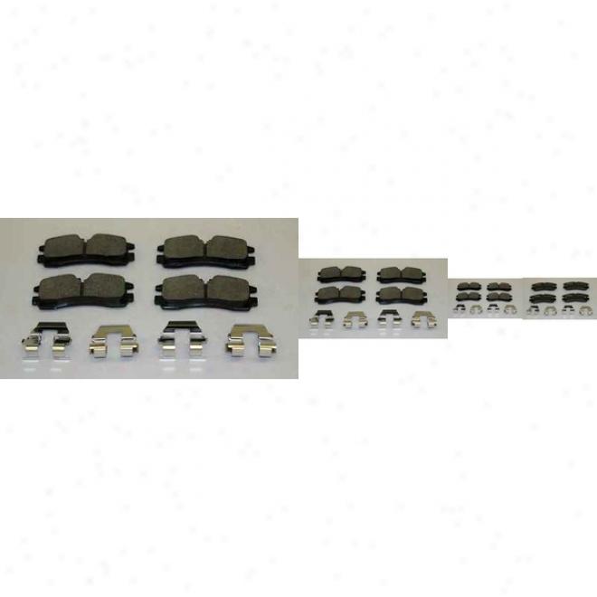 Monroe Premium Brake Pads Dx754 Cadillac Semi Metalic Brake Pads