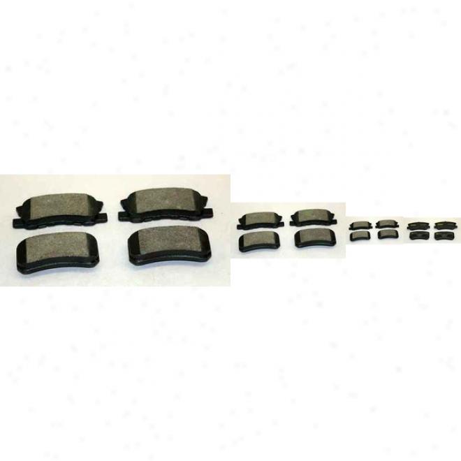 Monroe Rate above par Brake Pads Dx868 Dodge Semi Metalic Brake Pads