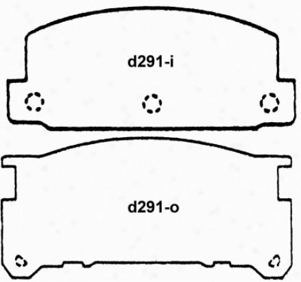 Wagner Pd29 1Pd291 Mazda Organic Brake Pads