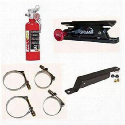 4wd 1 Lb. H3r Maxout Red Fire Extinguisher And Drake Mounting Pak - 100rjkpkg