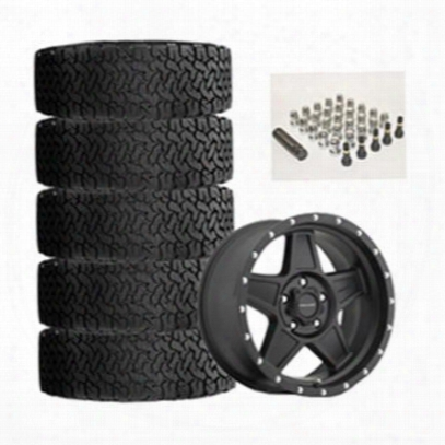 Genuine Packages Bf Goodrich All-terrain T/a Ko2 35x12.50r17 And Pro Comp Series 5035 Predator 17x8.5 Wheel Package - Set Of 5 - Tirepkg54
