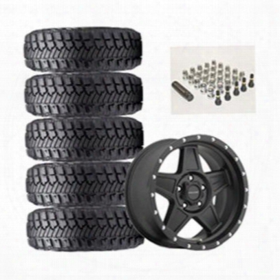 Genuine Packages Goodyear Disputant Mt/r With Kevlar 35x12.50r17lt And Pro Comp Series 5035 Predator Wheel 17x8.5 Package - Set Of 5 - Tirepkg12