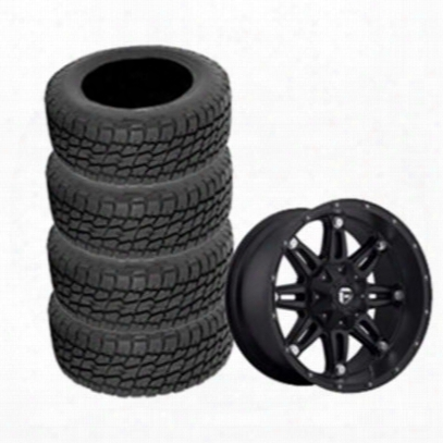 Genuine Packages Nitto 285/40r-24 Terra Grappler And Host Age Black Wheel 24x11 Package - Set Of 4 - Tirepkg284
