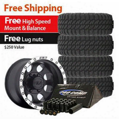 Genuine Packages Pro Comp Xmt2 Tire 33x12.50r15 And Mickey Thompson Baja Lock Wheels 15x8 Package - Set Of 4 - Tirepkg118