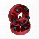 Alloy USA 5x5.5 Inch Bolt Pattern with 1.25 Inch Offset Wheel Spacers (Red) - 11302