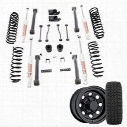 Genuine Packages 4 Inch Trail Master Complete Lift Kit with Coil Springs with Pro Comp XMT2 Tires and Trail Master Wheel Package - Set of 4 - TJS - TJ