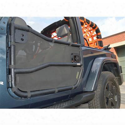 Dirtydog 4x4 Door Screens For Bestop Tube Doors, Gray - D/dj4ts07btgy