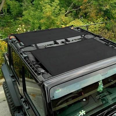 Dirtydog 4x4 Rear Sun Screen, Black - D/dj4ss07r1bk