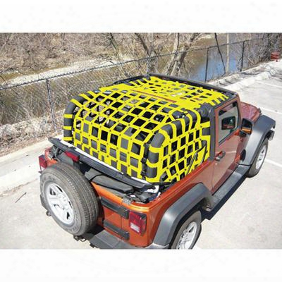 Dirtydog 4x4 Rear Upper Cargo Netting With Regular Sides - J2nn07rcyl