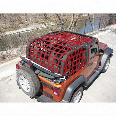 Dirtydog 4x4 Rear Upper Cargo Netting With Regular Sides - J2nn07rcrd