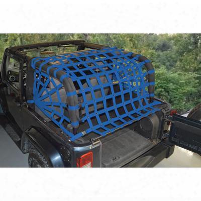 Dirtydog 4x4 Rear Upper Cargo Netting With Spider Sides, Blue - D/dj2nn07rsbl