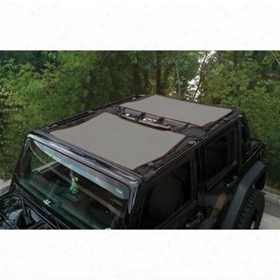 Dirtydog 4x4 Sun Screen Kit, Gray - D/dj4ss07f3gy