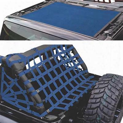 Dirtydog 4x4 Sun Screen With Rear Cargo Net - J2ns07rsbl