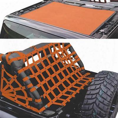 Dirtydog 4x4 Sun Screen With Rear Cargo Net - J2ns07rsor