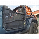 DirtyDog 4x4 Door Screens for Olympic 4x4 Tube Doors, Black - D/DJ4TS07OYBK