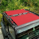 DirtyDog 4x4 Rear Sun Screen, Red - D/DJ4SS07R1RD