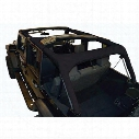 DirtyDog 4x4 Replacement Roll Bar Cover, Black - D/DJ4RBC07BK