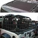 DirtyDog 4x4 Sun Screen with Rear Cargo Net - J2NS07RCBK