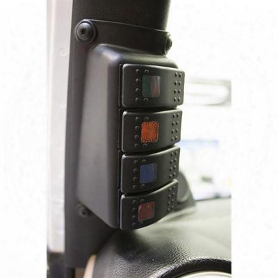 Daystar A-pillar Switch Pod With Rocker Switches - Kj71056bk