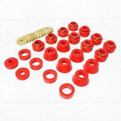 Energy Suspension Body Cab Mount Set (red) - 2.4105r