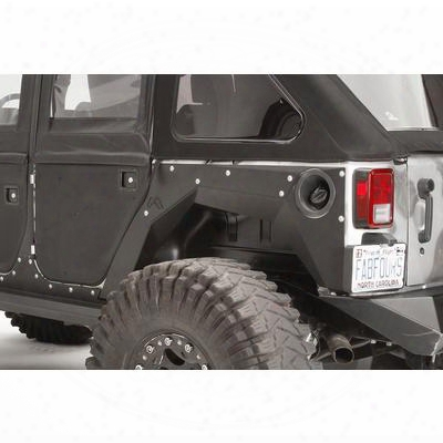 Fab Fours Rear Replacement Fenders (black) - Jk1001-b