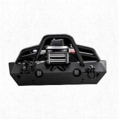 Fab Fours Stubby Front Bumper (black) - Jk07-b1854-1