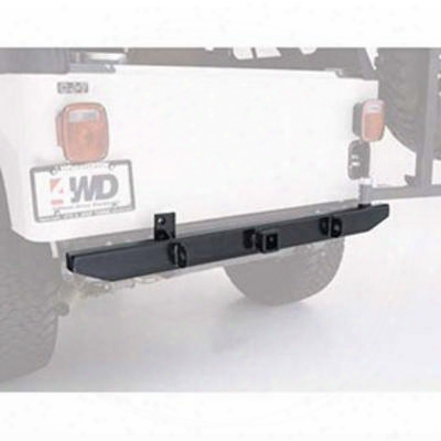 Garvin Industries 54 Inch Rear Cj Bumper With Hitch (black) - 34909