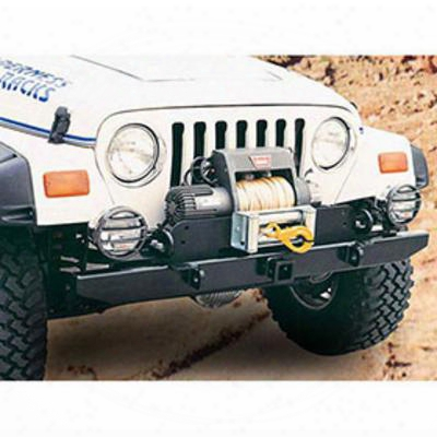 Garvin Industries 54 Inch Wide Yj Black Front Hitch Bumper (black) - 34921