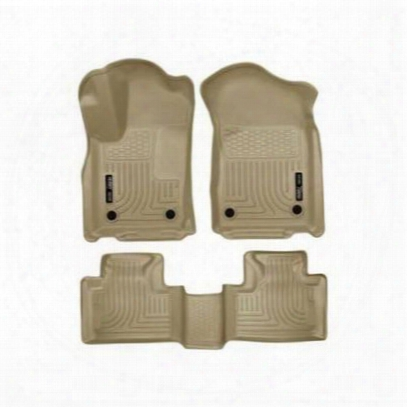Husky Liners Weatherbeater Front And Rear Floor Liners (tan) - 99153