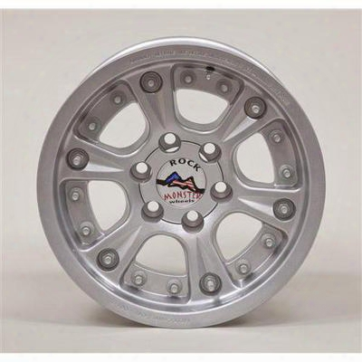 Hutchinson D.o.t. Beadlock, 17x8.5 Wheel With 6 On 5.5 Bolt Pattern - Sparkle Silvery - 60670-047-03