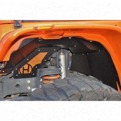 Hyline Offroad Jk Inner Fender Liners In Black Powder Coat - 400.300.160