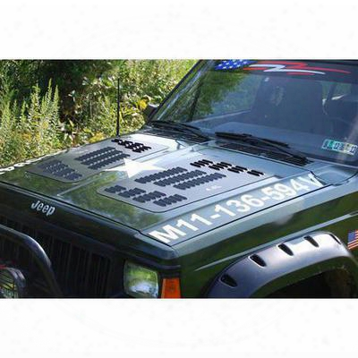 Hyline Offroad Louvered Hood Panel - 500.500.100