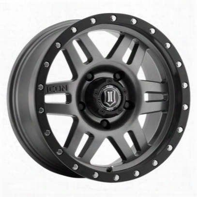 Icon Dynamics Six Speed Series Wheel, 17x8.5 With 5x150 Bolt Pattern - Gun Metal