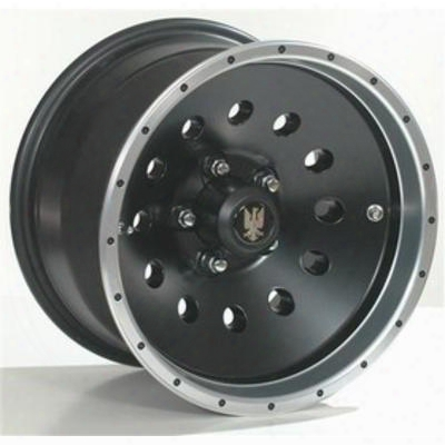 Interco Birddog, 15x10 W Ith 5x5.5 Bolt Pattern - Black With Machined Lip - Bir15105139-51