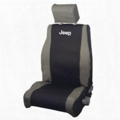 Jeep Logo Front Seat Cover (khaki/black) - 82210330ab