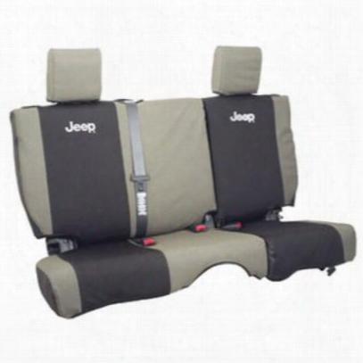 Jeep Logo Rear Seat Cover (khaki/black) - 82210329