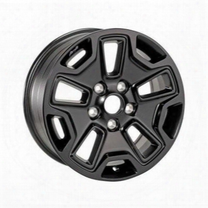 Jeep Willys Series Wheel,17x7.5 With 5 On 5 Bolt Pattern - Black (black) - 5lw63dx8aa