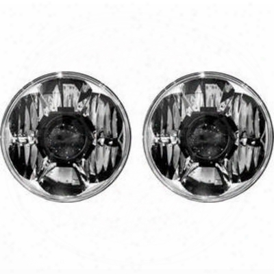 Kc Hilites 7 Inch Gravity Led Pro Headlights (clear) - 42341