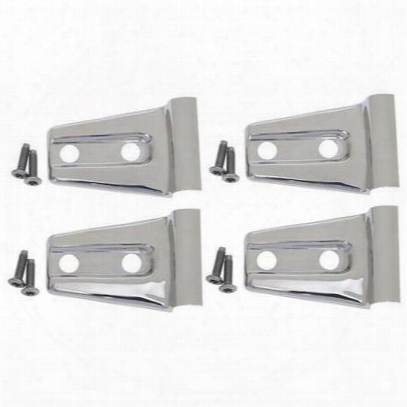 Kentrol Door Hinge Overlays (stainless Steel) - 30020