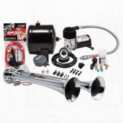 Kleinn Train Horns Complete Dual Truck Air Horn Package With 120 Psi Sealed Air System - Hk2