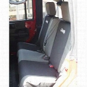 Jeep Logo Rear Seat Cover (Black) - 82210332