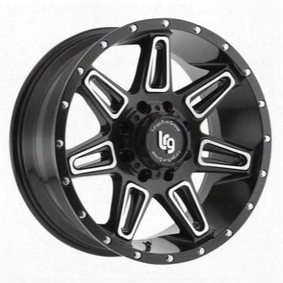 Lrg Rims Burst Series 117, 20x10 Wheel Size With 6x135 Bolt Pattern - Satin Black Machined - 11721036312n