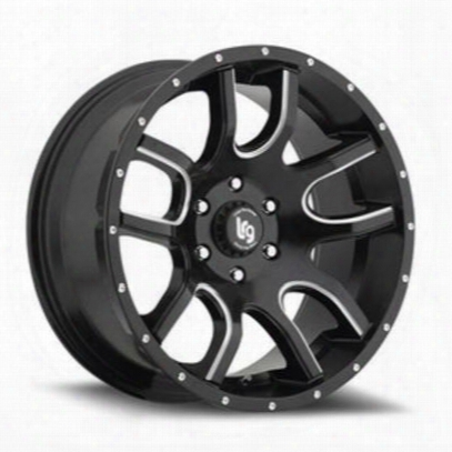 Lrg Rims Lrg108, 20x12 Wheel With 5 On 5 Bolt Pattern - Black Milled - 10821273944n