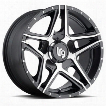 Lrg Rims Lrg109, 20x10 Wheel With 5 On 5 And 5 On 5.5 Bolt Pattern - Machine Face With Black Lip - 10921027312n