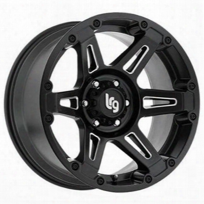 Lrg Rims Lrg112, 20x10 Wheel With 8 On 170 Bolt Pattern -b Lack Milled - 11221070912n