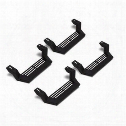 Lund Steps For Modular Rock Rail System, Cab Length (black) - 26410020