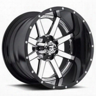 Mht Fuel Offroad D260 Maverick, 22x14 Wheel With 8 On 6.5 Bolt Pattern - Chrome Center Black Lip - D26022408247